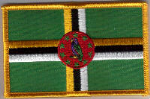 Dominica Embroidered Flag Patch, style 08.